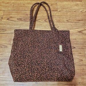 Nine West vintage leopard print tote bag